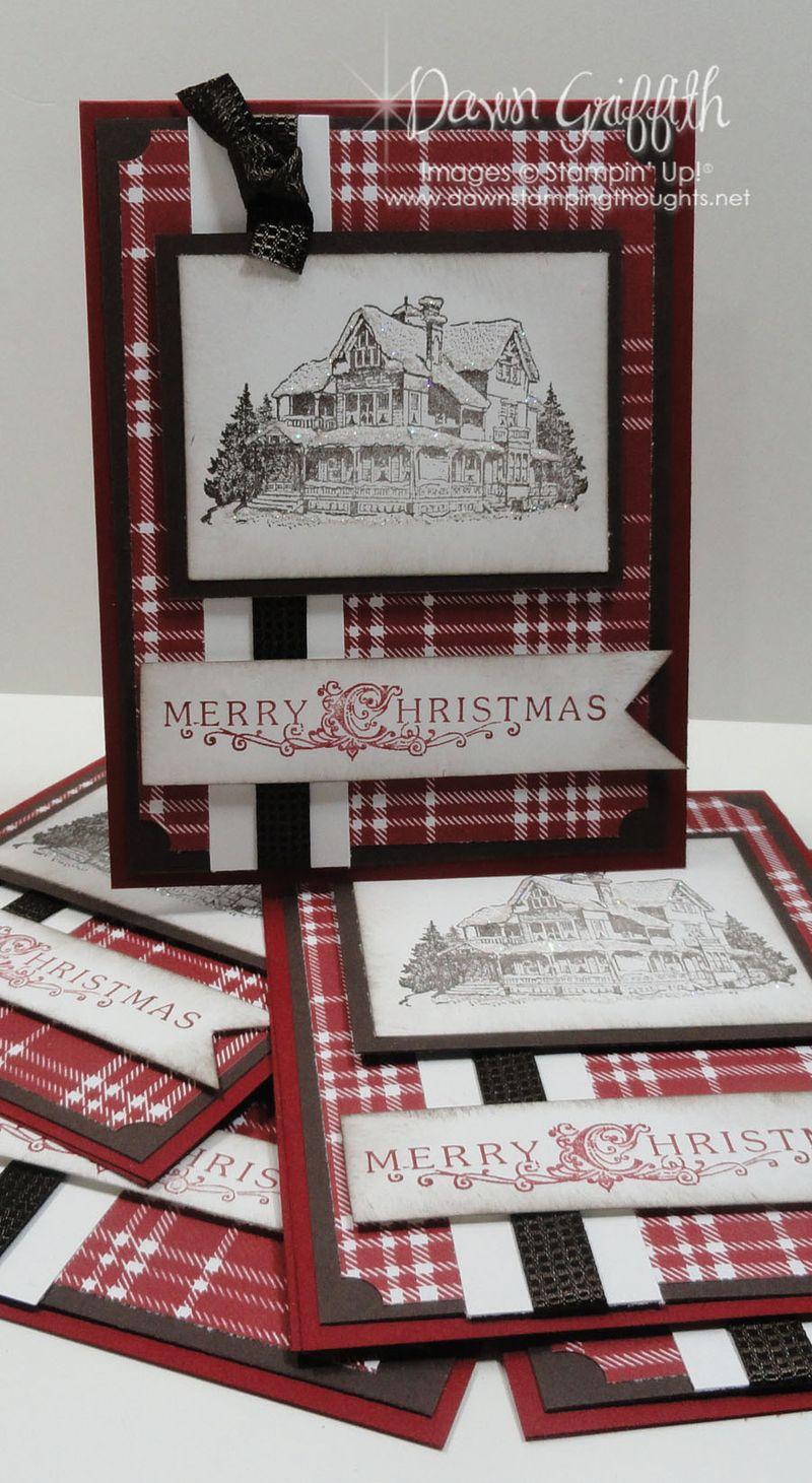 Lodge Christmas cards for club Hostess