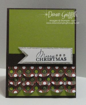 Merry Christmas ruffle card