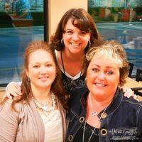 Jana, Joan, and I at Chick-Fiil-A