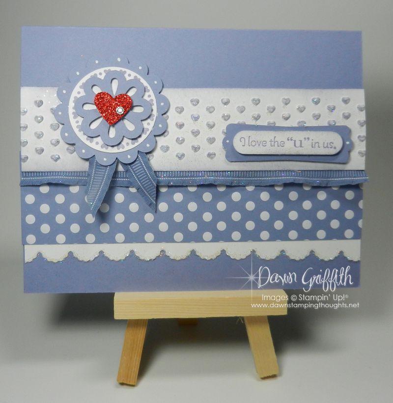 Love the U in us Valentine card