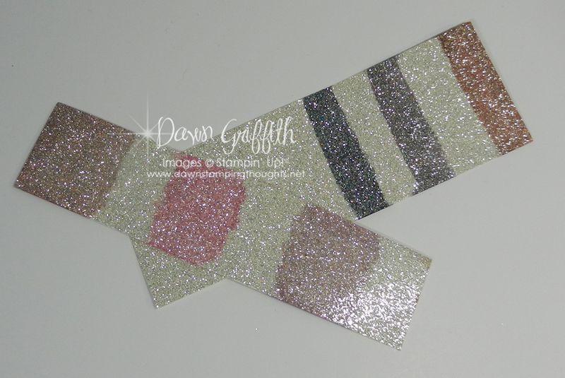 Coloring Silver Glimmer paper