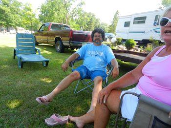 Steve wearing Linda sandles#1