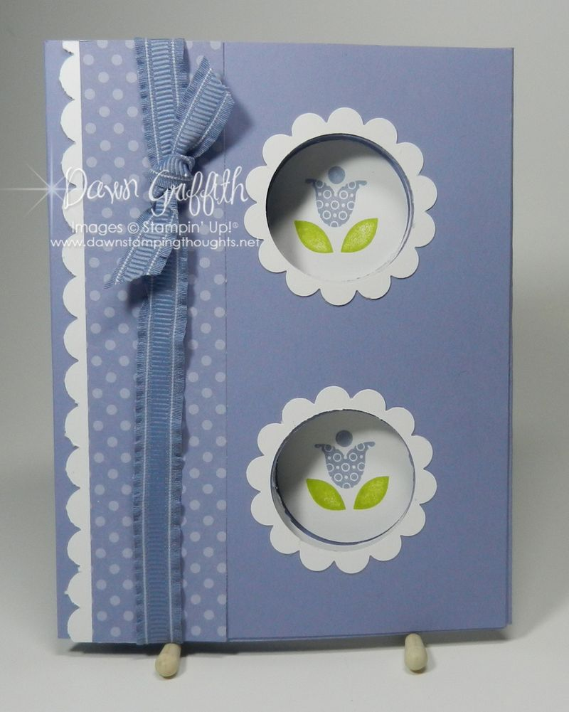 Double peek a boo card front