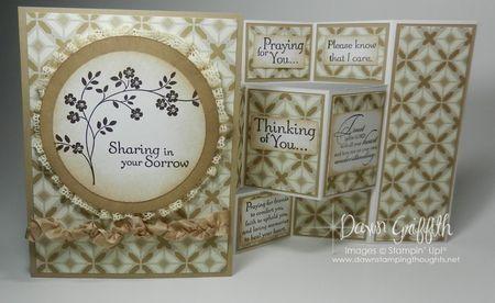 Sympathy card for Pastor