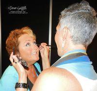 Getting my make up done by Jana SU! make up artist