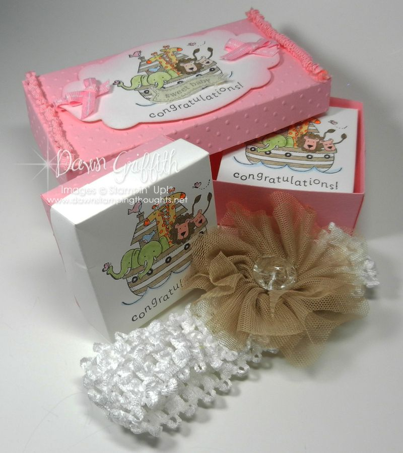 Baby box with baby head band