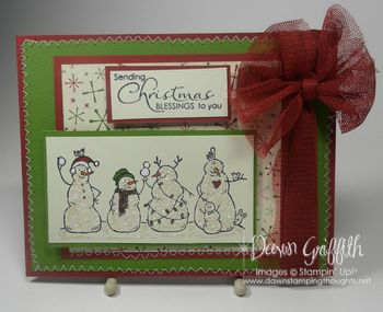 Frosty Friends stitched card