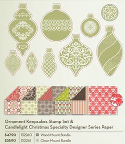 Ornament Keepsakes stamp set & DSP promotion