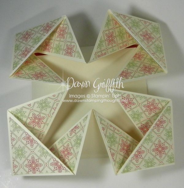 Dawns Stamping Studio Napkin Fold Card Video
