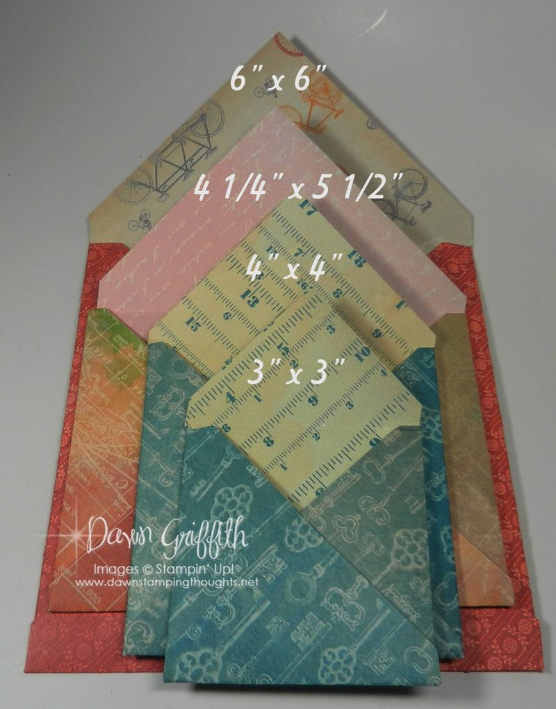 4 matching envelopes with  Dawn Griffith