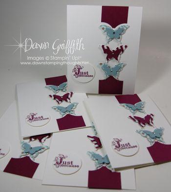 Cards for club hostess Holly  1-19-2013