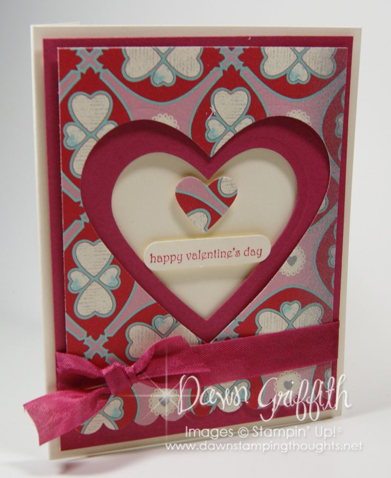 Happy Valentines day with Heart framelits