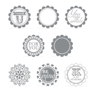 A Round Array stamp set  for 2013 2014