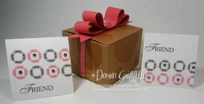 Convention Make & Take  box with note cards