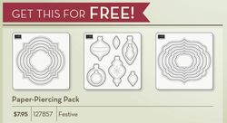 Festive paper piercing pack for FREE