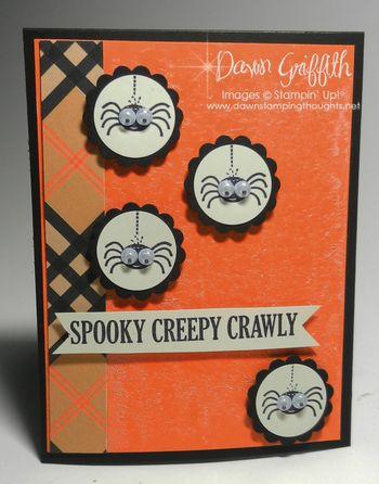 Spooky Creepy Crawly card