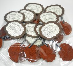 Cinnamon Ornaments with toppers