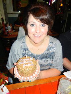 Birthday Gilr & her  cake
