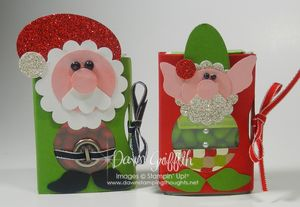 Santa & Elf tic tac holders