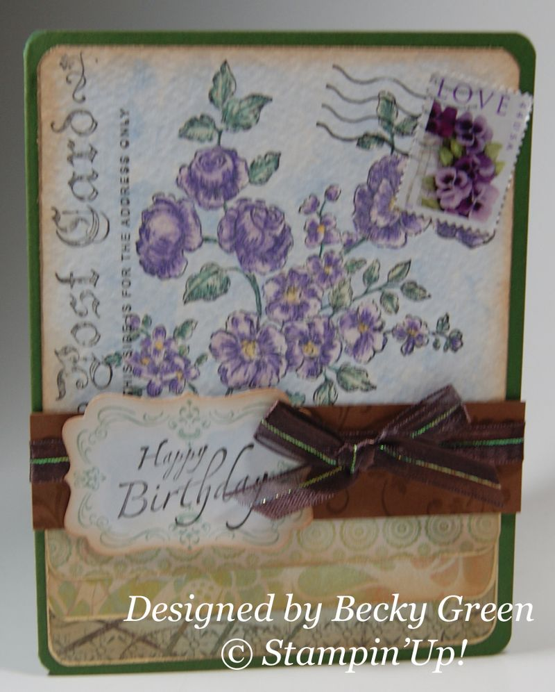 Birthday card from Becky Green