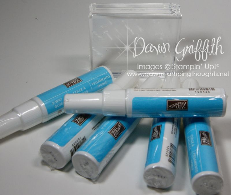 2Way Glue pen and Clear Mount stamps
