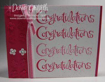 Congratulations card  for level 2