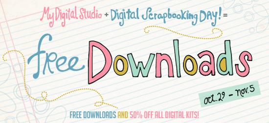 FREE downloads  and 50 percent off ALL digital kits