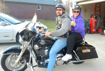 Thanksgiving Harley ride with Momma