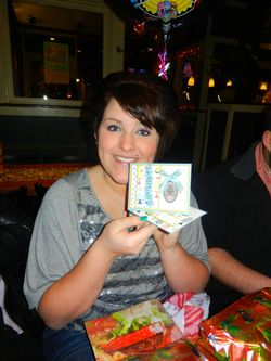 Birthday Girl with her card I made her