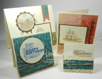 4 Cards for matching envelopes