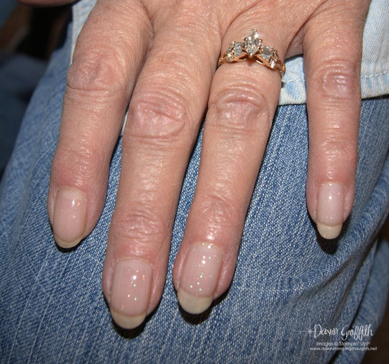 Jody's Shellac  nails and ring from Dad