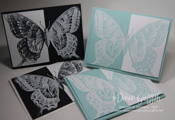 Split Negative Black and Pool Party butterflies