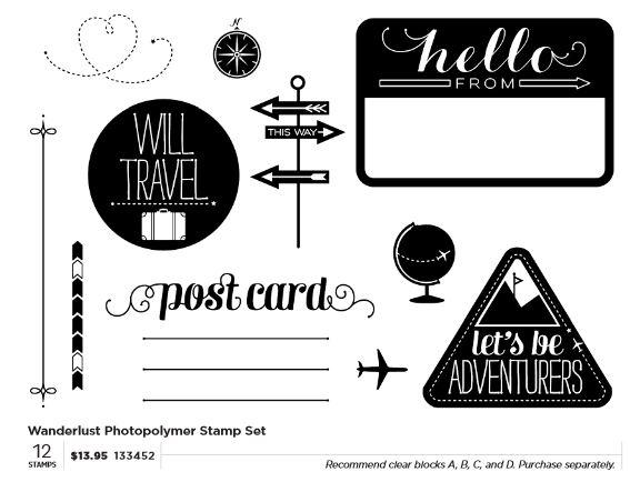 Wanderlust Photopolymer set for June 2013