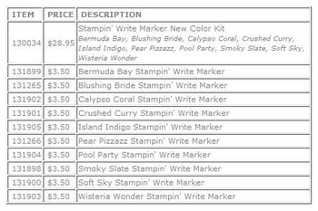 New color markers  set or single purchase