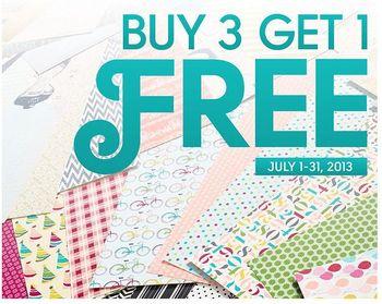 Buy 3 get 1 FREE designer paper