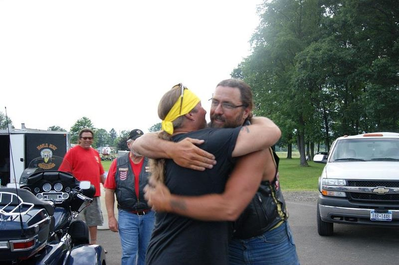 Blackie and Rich at Finish line July 3, 2013
