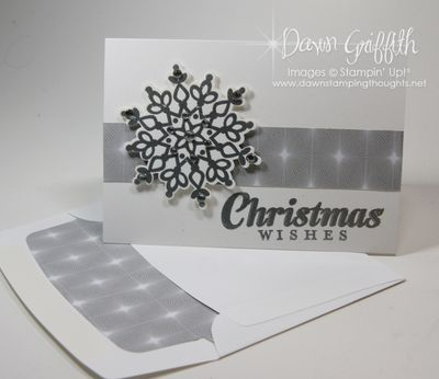Christmas Wishes note card & matching envelope