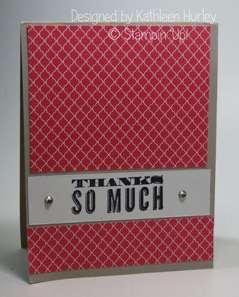 Kathleen Hurley Thank you card