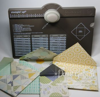 Envelope Punch Board with Envelopes