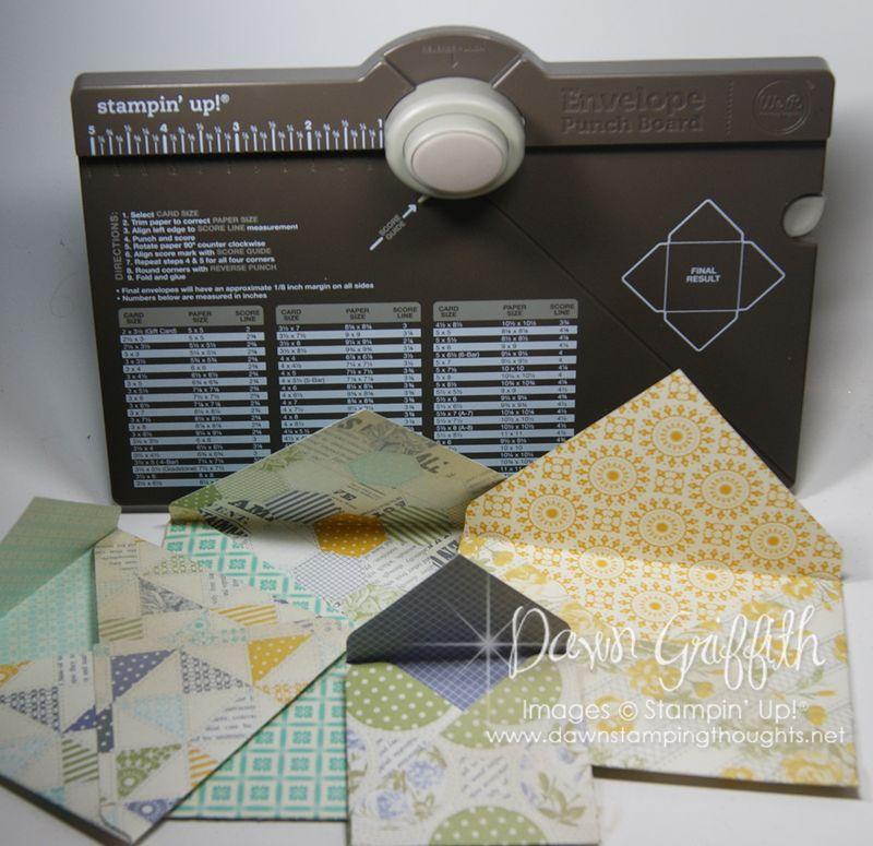 Envelope Punch Board with Envelopes