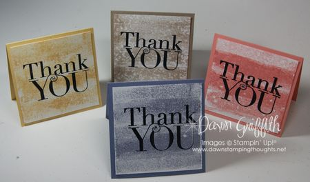 September 2013 Thank you notes
