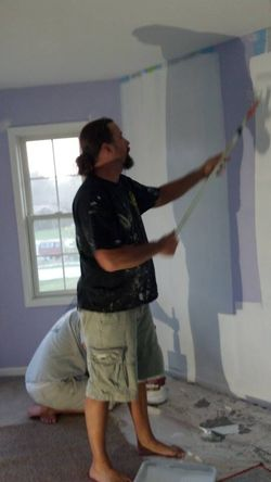 The Boys painting our spare bedroom#2