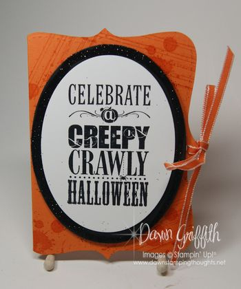 Halloween Top Note gift card holder