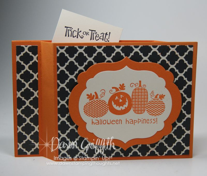 Halloween Happiness Wiper card  opened  Dawn Griffith