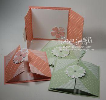 Flower Shop gate fold cards
