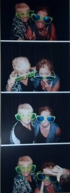 Gracie & Aaron's wedding photo booth with my Momma