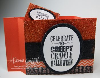 Halloween Wiper card opened