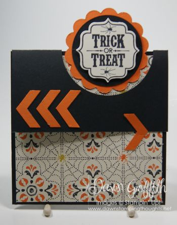 Trick or Treat card  for Club cased from Candy M