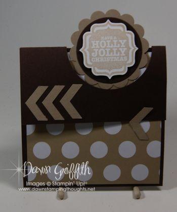 Flap Fold Christmas card