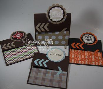 Flap fold cards